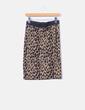 Falda elástica tricot animal print Warehouse