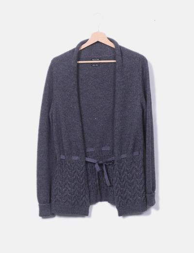 Chaqueta tricot con lazos