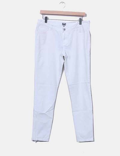 Pantalón denim blanco Adolfo Dominguez