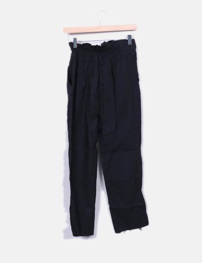 NoName Pantalón negro fluido lazo (descuento 76%) - Micolet 515174ee9960