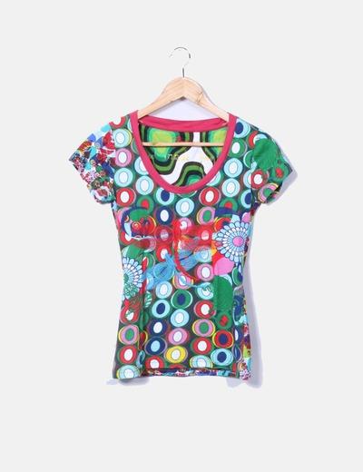 T-shirt imprimé Desigual