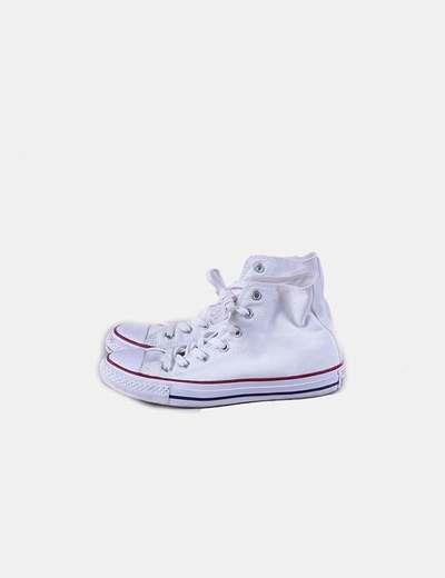 Zapatilla deportiva blanca tela