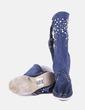Botas scamosciato azul con perlas Hector Riccione