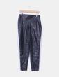 Pantalón negro polipiel Zara