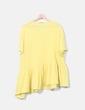 Top tricot amarillo volante oversize Zara