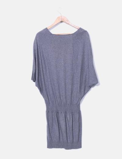 Vestido gris cintura cenida