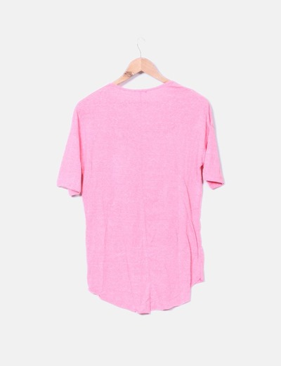 Camiseta rosa print letras