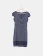Vestido gris print encaje Suiteblanco