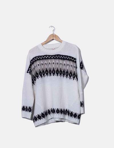 Weißer Freeshaw-Pullover Pull&Bear