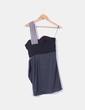 Vestido combinado con escote asimétrico Topshop