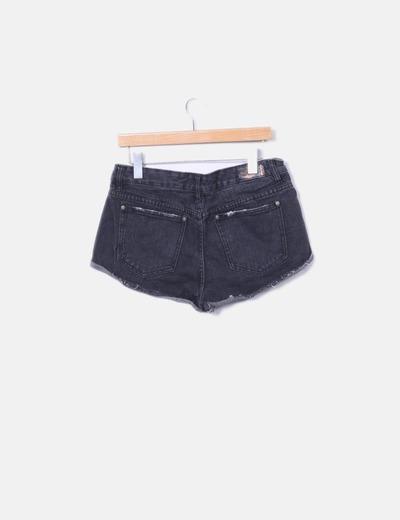 Shorts denim gris marengo
