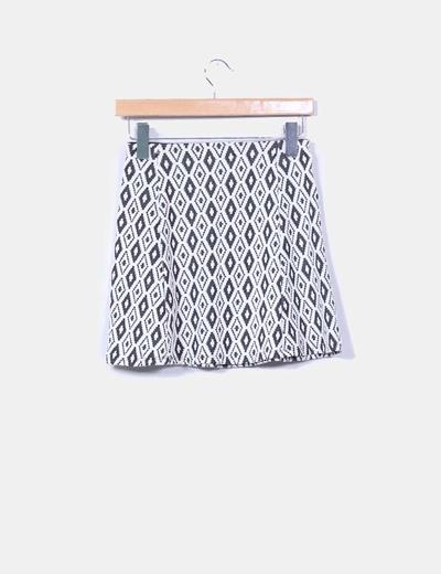 Minifalda etnica texturizada