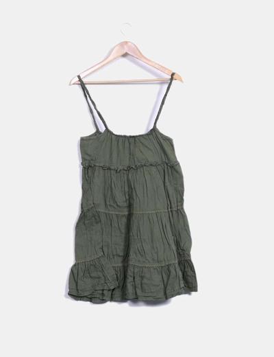 Vestido midi tirantes verde