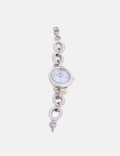 Reloj plateado combinado