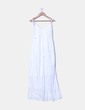 Maxi vestido blanco con crochet Made in Italy