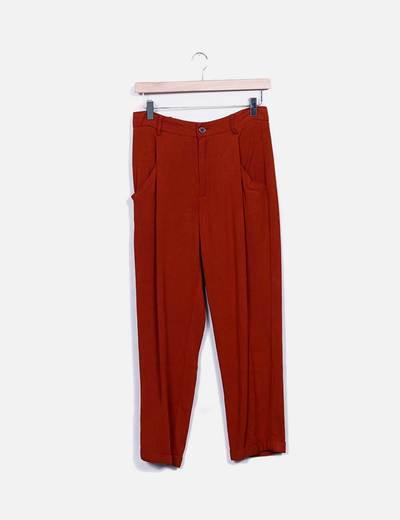 Pantalón pinzas caldera Zara