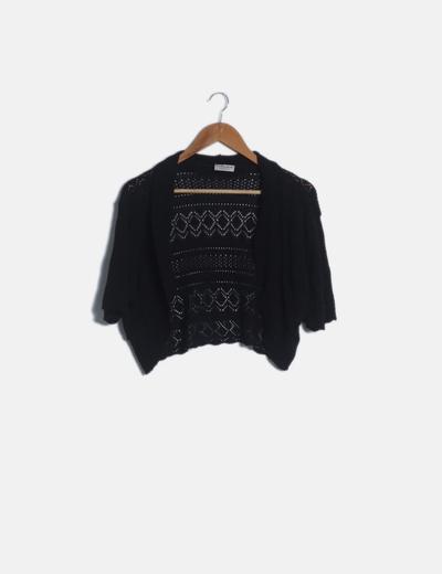 Torera crochet negra