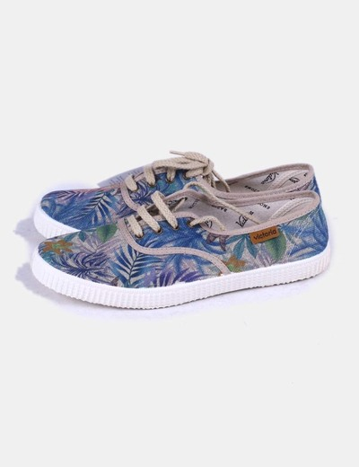 Bambas sport estampado tropical