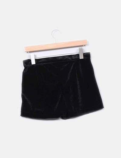 Short negro terciopelo