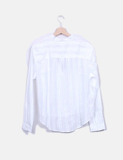 Camisa blanca con rayas glitter