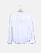 Camisa blanca con rayas glitter Springfield