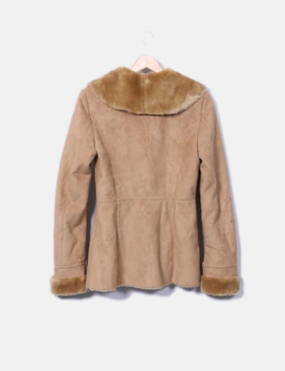 Zara Abrigo de antelina marrón (descuento 81%) - Micolet be5bf1163290