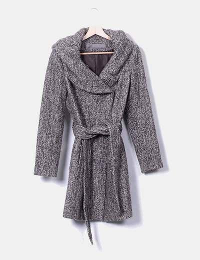 Abrigo tweed taupé jaspeado Zara