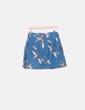 Falda azul con estampado de patos NoName