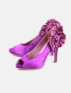 Zapato de tacón satén morado Festissimo 5ce3b9966b8d
