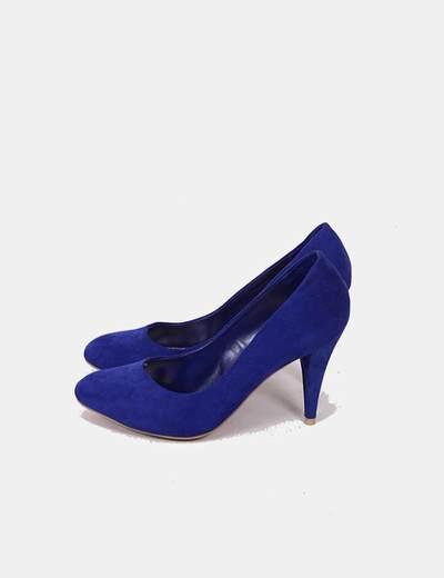 zapatos de separación 0e9f2 4fb26 Zapatos azules tacón