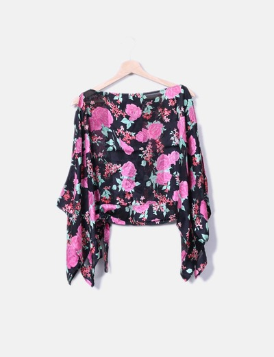 Blusa seda floral NoName