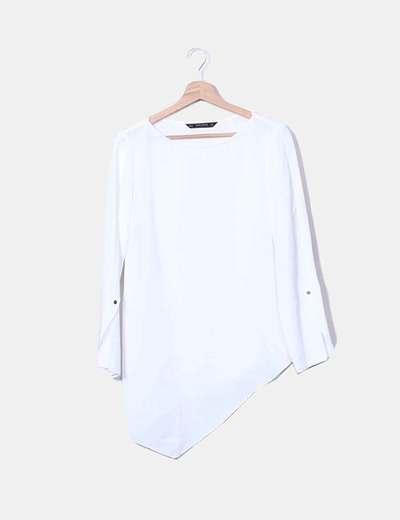 Zara Blusa bianca asimmetrica (sconto 49%) - Micolet 1158f875dca