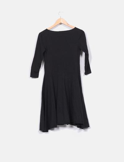 Vestido de algodon negro