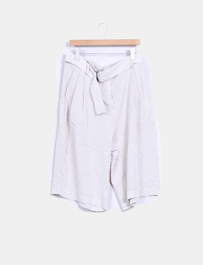 Pantalón culotte beige Vero Moda