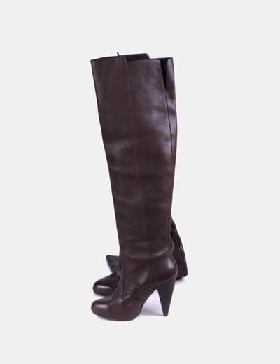 Botas altas con tacón Zara