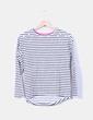 Camiseta de rayas con brillos en hombro Unit