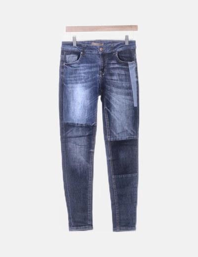 Jeans azul combinado