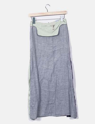 Delantal efecto falda