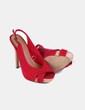 Zapato peep toe rojo  Suiteblanco