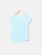 Camiseta azul cielo jaspeada Bershka