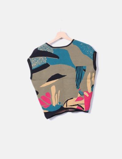 Top tricot estampado