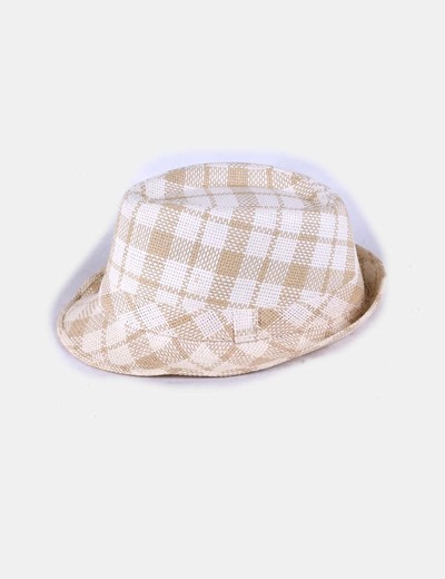 NoName Sombrero rafia de cuadros bicolor (descuento 95%) - Micolet 1b4cb258ab1
