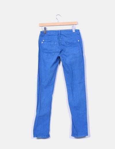 Pantalon azul efecto vaquero
