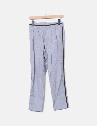ea0267d205a0 Zara Pantalons gris de jogging bande latérale (réduction 76%) - Micolet