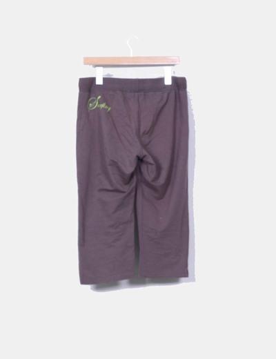 Pantalon deportivo marron