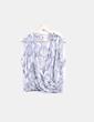 Blusa gris con estampado de serpiente Easy Wear