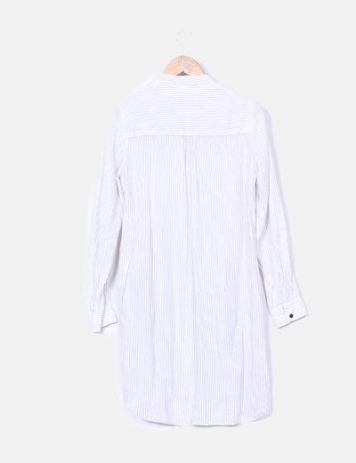 Vestido blanco camisero zara
