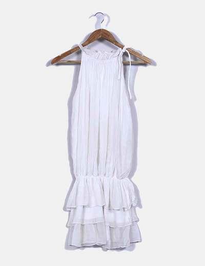 Vestido blanco cuello halter NoName