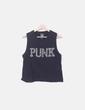 Camiseta negra print punk Primark