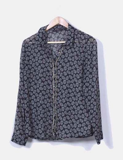 Blusa`print calaveras Zara